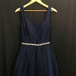 Short Navy Blue Formal Dress
